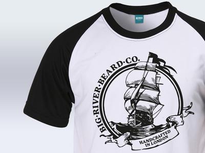 Big River Flagship T-Shirt Design illustration fashion beards clothing