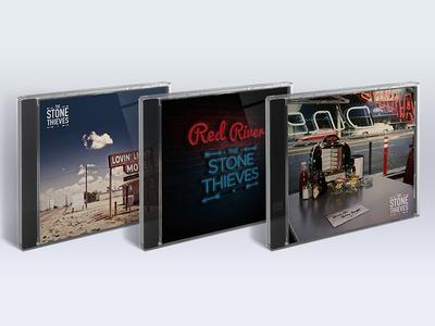 Stone Thieves - Single Artwork vinyl cd artwork stone thieves americana design rock music