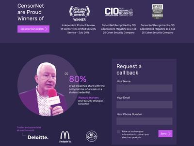 Censornet Pitch Design Part #2 branding design infosec website ui
