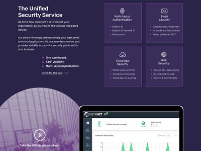 Censornet Pitch Design Part #3 infosec design branding ui website
