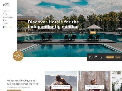 Travel Website Pitch Design tourism luxury instagram holidays hotels travel website