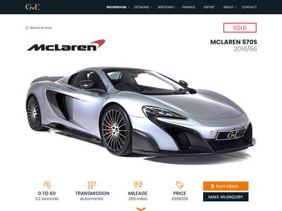 GVE - Luxury Car Listing Page #1 interfacedesign ui luxury racecar cars sportscar