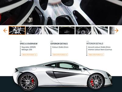 GVE - Luxury Car Listing Page #2 brochure supercar car design ui website