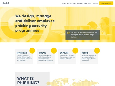 Phishd Art Direction design ui website infosec