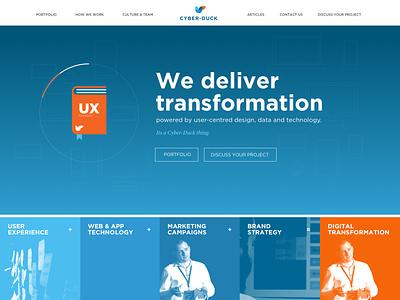 Agency Website Home Page #1 ux portfolio agency ui website