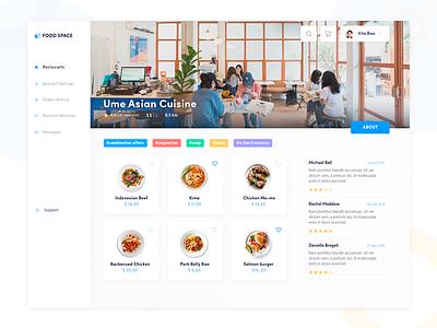 Food Delivery web dashboard web search foodora ubereats delivery hamburger food