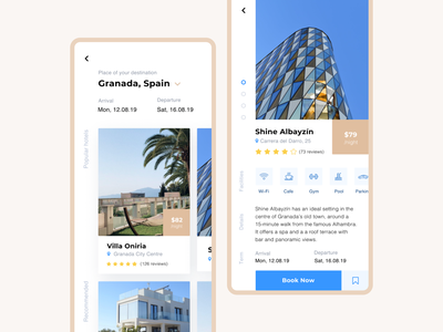 Book and Travel booking app mobile app mobile travel app ux design ui design ux ui design minimal clear