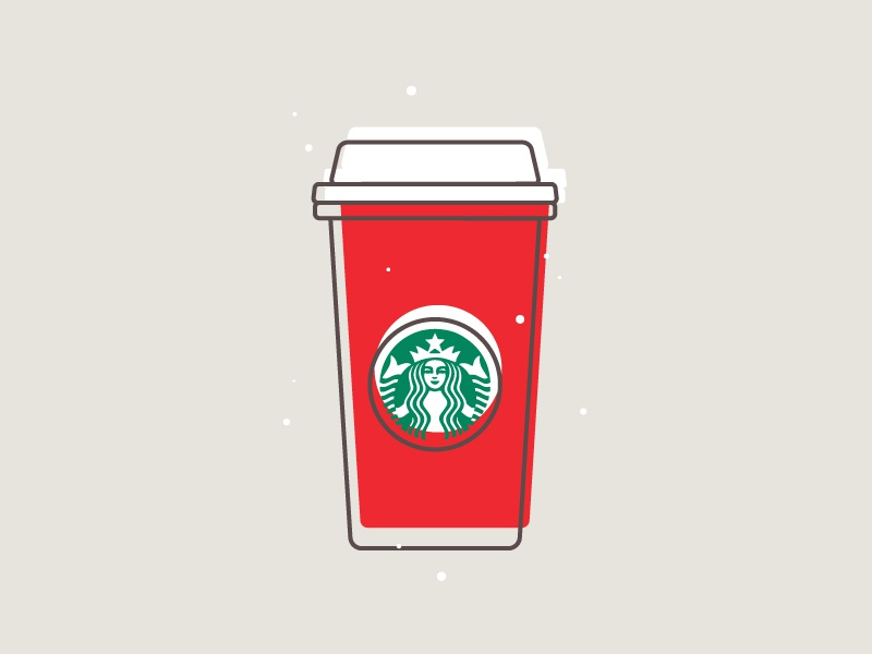 Starbucks Holiday Cup 2/100 icon christmas holiday starbucks