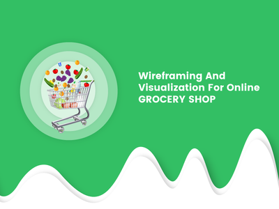 Grocery Shop wireframe