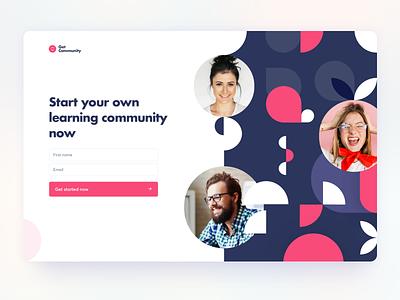 Community Platform SaaS App ui ux shapes abstract app saas platform community