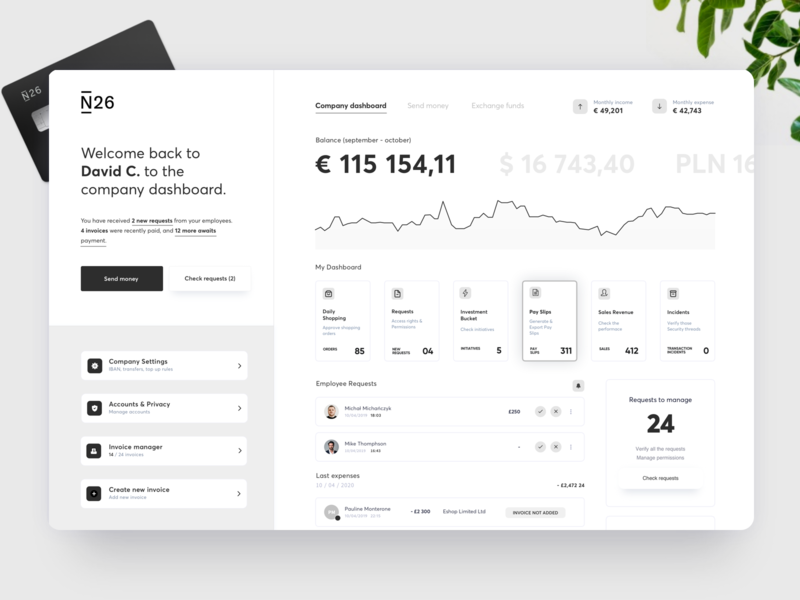 N26 Dashboard Concept UX UI dashboard ux banking app fintech dashboard design banking bank app dashboard ui dashboard