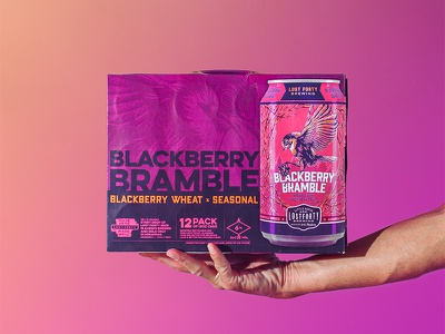 Blackberry Bramble 12 pack phtography design can beer