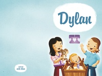 Birth Announcement Card Dylan