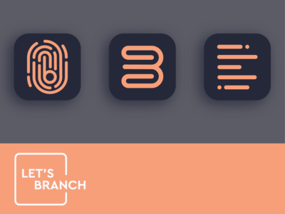 Let's Branch logo concepts