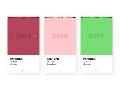 #07 Daily UI Challenge - Pantone Retrospective