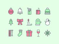 #18 Daily UI Challenge - Christmas icons