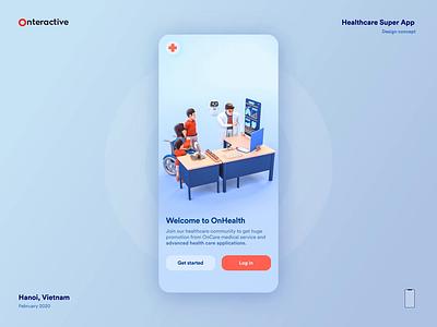 Healthcare Super App Concept chatbot ui 3d animation 3d animation icon ux illustration