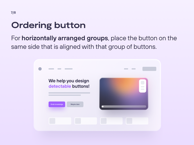 UX/UI Knowledge: Designing enticing buttons   Part 3 buttons ux inspiration user experience design inspiration figma procreate ui design ux design graphic design inspiration app design web design dribbble