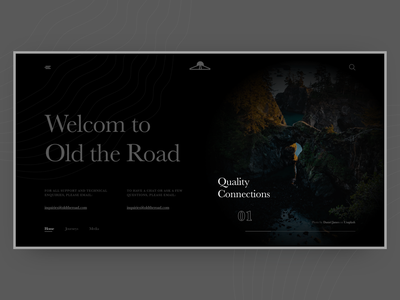 Old the Road website web ui ux minimal typography sprinter design