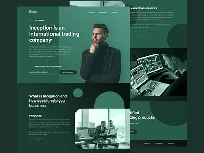 The Inception Company website trade trading ui web ux sketch minimal design
