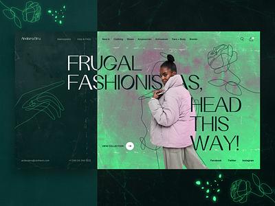 Andora Bru. E-commerce website web video ux ui typography promo motion interface interaction animation fashion e-commerce