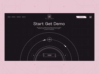 Vector corporate promo typogaphy web design dailyui ux ui website interaction experience agency