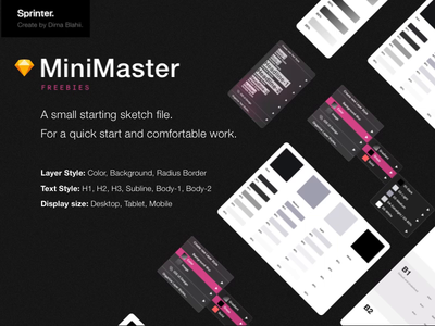 MiniMaster - A small starting sketch file.