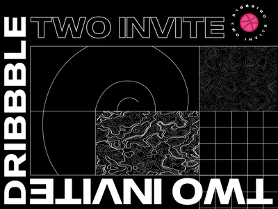 Two dribbble invites! poster sketch type minimal agency 2invites vector illustration 2019 trend 2019 typography design sprinter dribbble invites dribbble invite invite dribbble invitation invites
