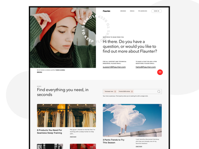 Flaunter fashion blog new branding agency ux sketch minimal typography design