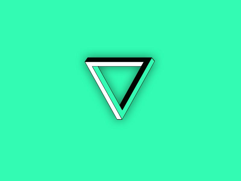 Impossible triangle trippy impossible triangle design ui triangle