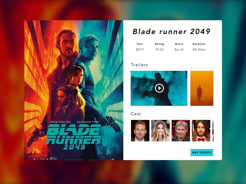 Movieapp concept cinema ux app ui design bladerunner movie