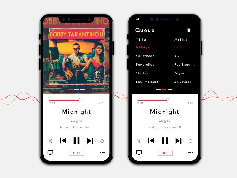 Daily UI - Music player ui ux design dailyui daily musicplayer music