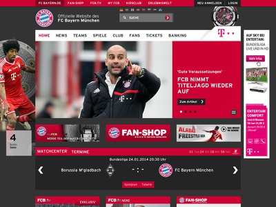 FC Bayern München - Homepage homepage sport soccer football fcb website responsive