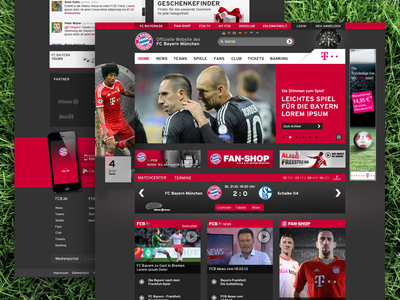 FCB Home homepage fcb website sport responsive soccer football