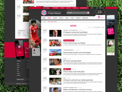 FCB News List list articles news football soccer responsive sport website fcb