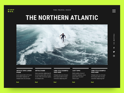 Surf Magazine: The Travel Issue 01 landing page magazine cover surf magazine website preview layout exploration editorial magazine surf