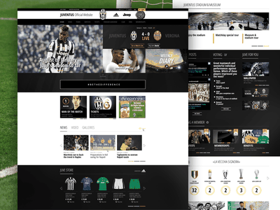 Juventus Home website sport soccer responsive homepage football juventus juve