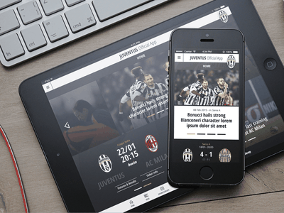 Juventus Mobile App Home sport soccer tablet phone mobile app football juventus juve
