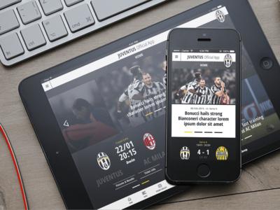 Juventus Mobile App Home