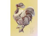 Chicken Line Drawing