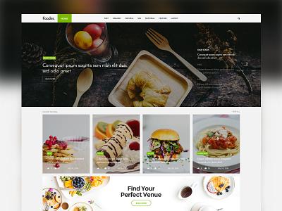 Coolist | Food Version ajax magazine themeforest theme themewaves news game food web design ui design ux design