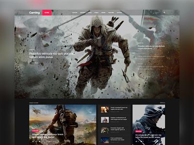 Coolist | Game Version ajax magazine themeforest theme themewaves news game food web design ui design ux design