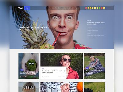 Coolist | Viral Version ajax magazine themeforest theme themewaves news game food web design ui design ux design