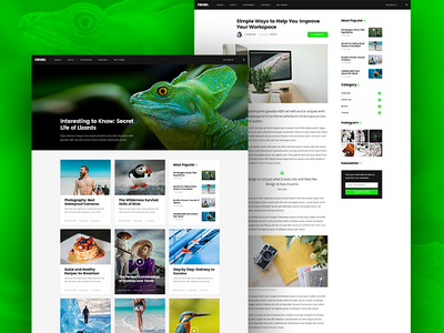 Rever - Clean and Simple WordPress Theme equal height blog theme masonry grid simple clean wordpress