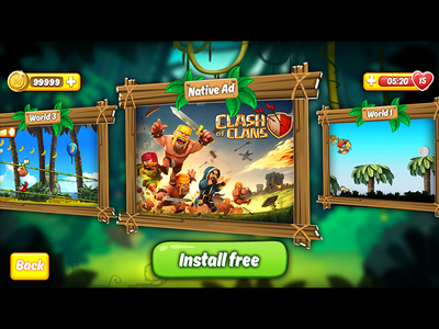 ui game Kong banana island run