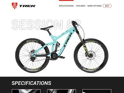 Landing page - Daily UI #003 product bikes trek 003 ui daily page landing