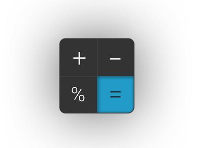Calculator Icon - DailyUI 005 dailyui icon calculator