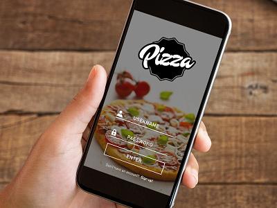 Pizza app - login login app iphone pizza