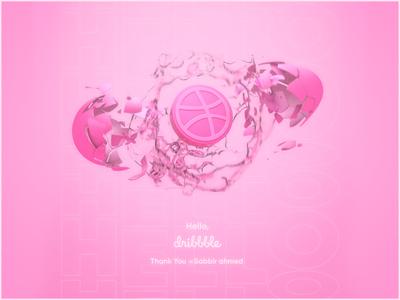 Hello Dribbble 3d branding egg firstshot 3d artist cracked minimal 3d art design