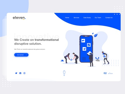 Eleven Landing Page